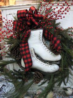 Ice skate wreath