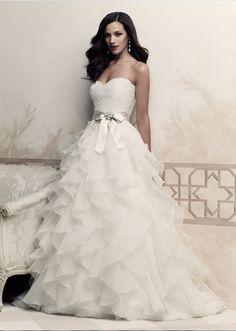 dressilymedresses: Stunning Satin&Lace&Organza Satin Ball gown Sweetheart Neckline Natural Waistline Wedding Dress