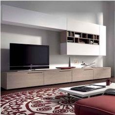 Meuble TV design mural Ingrazia ATYLIA   Decoration moderne   Pinterest