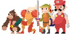 "theomeganerd: ""Nintendo Pixel Art Animations by Tom Lewis """