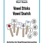 Reinforce teaching of the short vowel sounds with these two fun Make, Take and Teach activities.