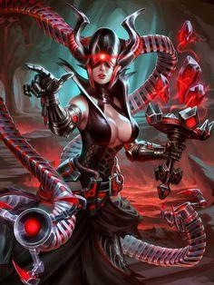 SMITE Grim Shadow Nox by Scebiqu.deviantart.com on @DeviantArt
