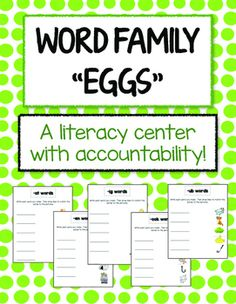 Word Family Game - using plastic eggs! Literacy Centres, First Year Teachers, New Teachers, Classroom Games, Classroom Ideas, Egg Game, Sentence Starters, Plastic Eggs