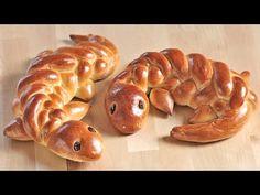 Wie man eine Eidechse aus Hefeteig flechtet - YouTube Savory Donuts Recipe, Food Art Bento, Cute Food, Good Food, German Baking, Bread Shaping, Bread Art, Braided Bread, Food Garnishes