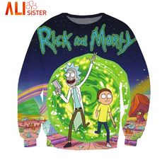 PLstar Cosmos Funny Cartoon Kids hoodies Unisex Women/Men Rick and Morty hoodie Sweatshirts casual Jumper Tops plus size Printed Sweatshirts, Mens Sweatshirts, Printed Shirts, Sweat Shirt, Tee Shirt, Shirt Men, Rick And Morty Sweatshirt, Rick Und Morty, Wubba Lubba