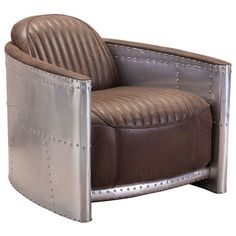 10% off Zuo Modern Fate Occasional Chair 98027 in Brown & Aluminum