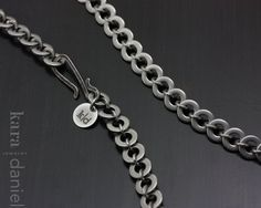 stainless steel snake chain . necklace. via Etsy.