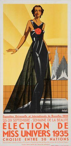 Exposition Universelle et Internationale de Bruxelles 1935 / Election de Miss Univers 1935 choisie entre 30 nations