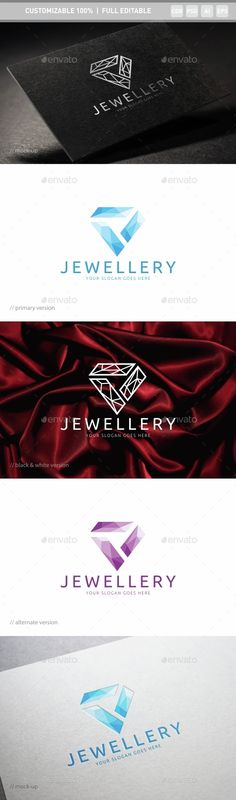 Jewellery Logo TemplatePSD, Vector EPS, AI #logotype Download: http://graphicriver.net/item/jewellery-logo-template/14629856?ref=ksioks