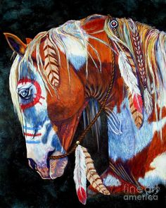 Native Americans Indians War Horse Artist: Amanda Stewart