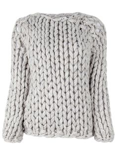 Super thick knitted sweater.