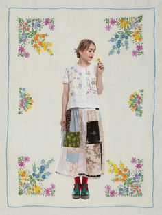 ARCOLA BLOUSE & FLORINE SKIRT | Lu Flux - creative way of doing fashion photography/presentation design