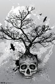 tree skull tattoo. Make an awesome back piece