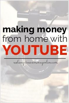 Do you need to earn money from home? Do you enjoy being on camera? If so, you may want to think about starting your own YouTube channel. It can be fun, and you'll make money, too! Making Money, Making Money Ideas, Making Money Online