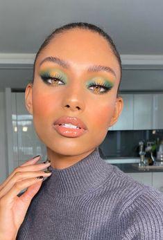 Make up by Black Girl Makeup, Girls Makeup, Glam Makeup, Eyeshadow Makeup, Beauty Makeup, Gold Eyeshadow, Makeup Goals, Cute Makeup Looks, Makeup Eye Looks