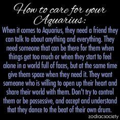 Zodiac Society - How To Care For Your Aquarius: Aquarius Traits, Capricorn Quotes, Capricorn Facts, Aquarius Woman, Capricorn And Aquarius, Horoscope Capricorn, Zodiac Quotes, Capricorn Love Match, Aquarius Qualities