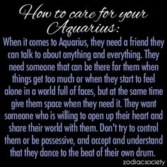 How To Care For Your Aquarius: