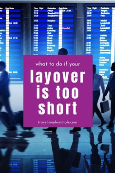 Short layovers can be super stressful. But there are things you can do to increase your chances of making it to your connecting flight. Read this post to learn what to do if your layover is too short. | travel tips | flight tips | travel planning | travel hacks Air Travel Tips, Travel Hacks, Travel Advice, Phuket, Vacation Destinations, Dream Vacations, Best Luggage, International Travel Tips, Short Break