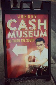 The Johnny Cash Museum in Nashville, Tennessee #JohnnyCash #Nashville #MusicCity