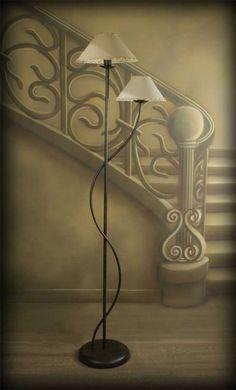 Resultado de imagen para lampara de carretes de fierro