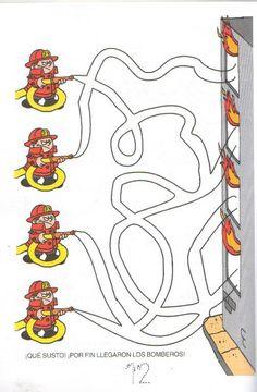 Blussen met de brandweer, free printable