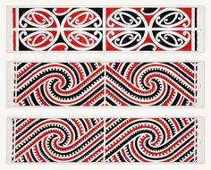 Williams, Herbert William :Designs of ornamentation on Maori rafters. Maori Patterns, Textile Patterns, Longarm Quilting, Machine Quilting, Maori Designs, Tattoo Designs, Polynesian Art, Nz Art, Art Terms