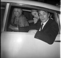 Budapest, 1967. BB, Alain and Nathalie Delon