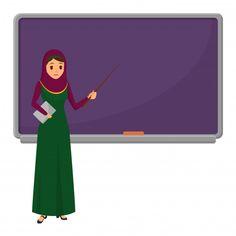Muslim woman teacher near blackboard Pre. Love Wallpaper Backgrounds, Kids Background, Background Images Wallpapers, Cartoon Background, Vector Background, Creative Poster Design, Creative Posters, Teacher Teaching Students, Animated Teacher
