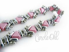 Usonia Bracelet Kit Pink & Silver by Carole Ohl by openseed