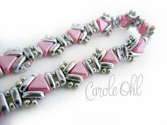 Kit pulsera de Usonia rosa y plata de Carole Ohl por openseed