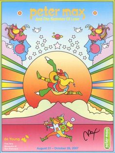 PETER-MAX-POSTER-SUMMER-OF-LOVE-18X-24-FACSIMILE-SIGNED-107