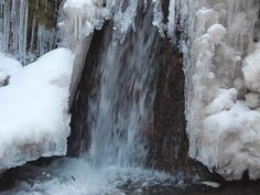 Mútňanský vodopád 01 Waterfall, Bb, Snow, Outdoor, Outdoors, Waterfalls, Outdoor Games, The Great Outdoors, Eyes