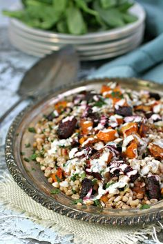 Warm Roasted Root Vegetable and Farro Salad