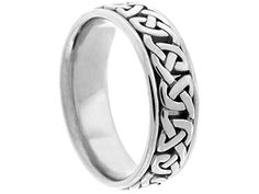 Men's 14K WHITE GOLD CELTIC 7mm COMFORT FIT WEDDING BAND size 4.75 From American Set Co. List Price:	$1,127.70 Price:	$537.00 http://jewels411.com EZ