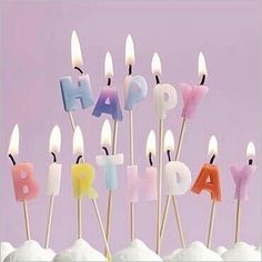 Happy birthday candles.