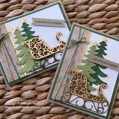 Today, I am sharing the 2 Santa's Sleigh Holiday Tags I made for class! Xmas Cards, Holiday Cards, Christmas Wishes, Winter Christmas, Christmas Wreaths, Christmas Ornaments, Santa Sleigh, Winter Cards, Christmas Projects