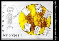 - Demain c'est la chandeleur, aujourd'hui activité peinture sur du papier bulle, puis on retourne et on imprime sur le gabarit de la crêpe + collage des ingrédients de la recette de la pâte a crêpe ! - Vous pouvez imprimer la fiche pour coller l'activité... Blog, Activities, Chant, Galette, Toque, Mardi Gras, Nursery Rhymes, Healthy Food, Bubble Wrap