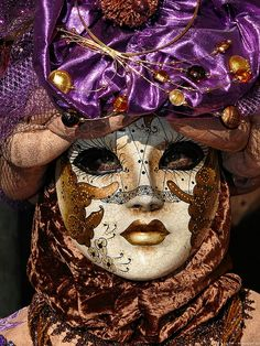 Carnival of Venice. I love this as it is not just a mere mask. The whole outfit is also important