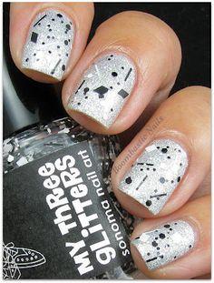 Boombastic Nails: Layla Softouch Effect - 01 & Sonoma Nail Art My Three Glitters