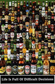 Garrafas de cerveja poster