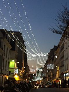 PARIS: Tiny streets and lights in the Abbesses.