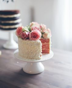Cute Roses Topped Little Cake