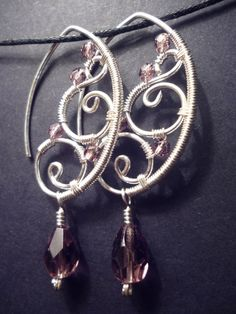 Wire Wrap TUTORIAL, Wire Wrapped Earrings, The Elegant Ear, Wire ...