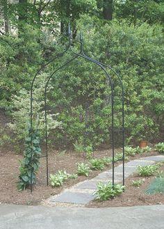"Amazon.com : Gardman R351 Gothic Arch, Black, 55"" Wide x 102"" High : Arbors : Patio, Lawn & Garden"
