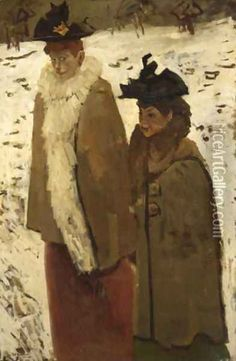 Two Girls In The Snow, Amsterdam - George Hendrik Breitner