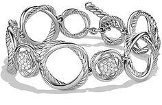 David Yurman Infinity Link Bracelet with Diamonds on shopstyle.com