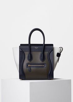 Micro Luggage Handbag in Multicolor Smooth Calfskin - Céline