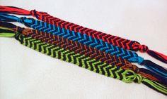 Custom Chevron Friendship Bracelet by ClamBoneBracelets on Etsy