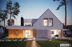 Find home projects from professionals for ideas & inspiration. Projekt domu Neo ENERGO by Pracownia Projektowa ARCHIPELAG Prefabricated Houses, Prefab Homes, Modern Ranch, Dream House Plans, Design Case, Modern Family, Home Fashion, Architecture Design, House Design