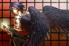 Anime Boy with Angel Wings | brunettes tattoos angels wings black angel anime anime boys golden ...